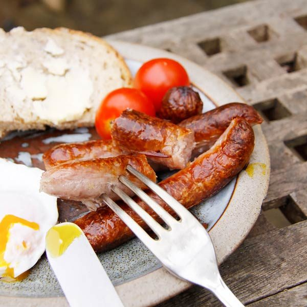 Chipolatas with cutlery