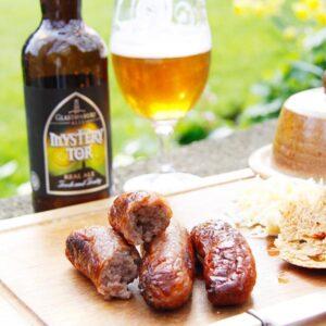 Glastonbury Ale and Pork Sausages