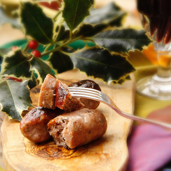 Boozy Cranberry and Pork Sausages