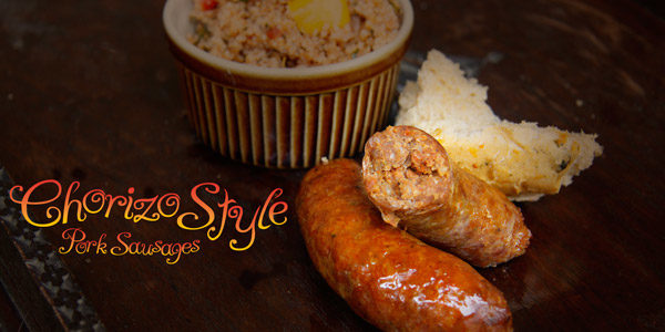 Uk Chorizo Pork sausage by Sausage Shed
