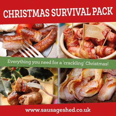 Christmas product pack from The Sausage Shed