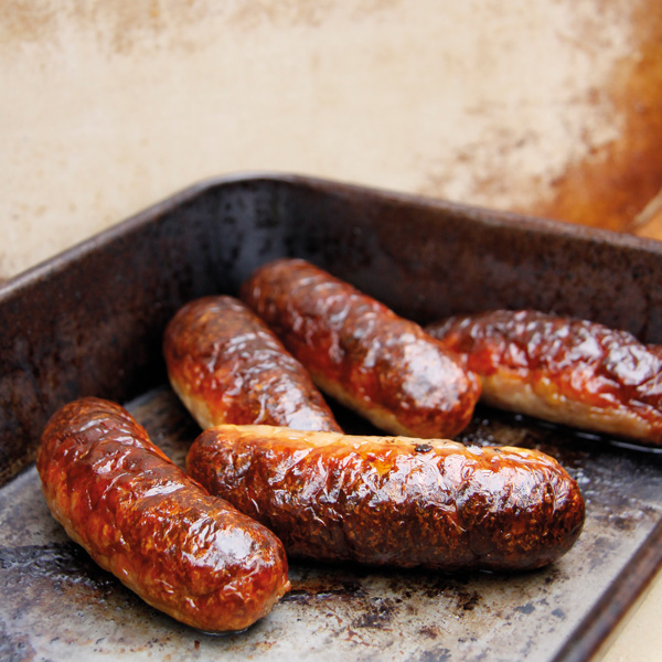 These Pork and Apple sausages retain their moisture although only containing 5% fat and the apple provides a welcome sweetness. They are also Gluten Free 2