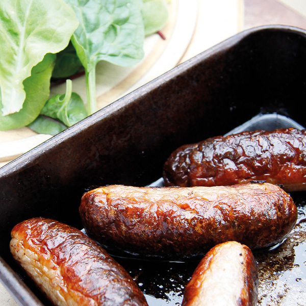 These Pork and Apple sausages retain their moisture although only containing 5% fat and the apple provides a welcome sweetness. They are also Gluten Free 3
