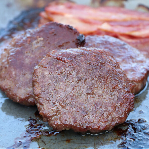 Sausage shed steak beef burgers