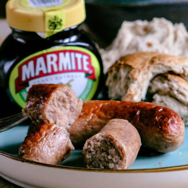 Marmite and Cheddar Cheese Sausages